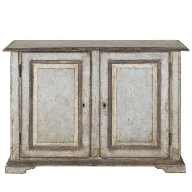 19th Century Italian Abruzzo Two-Door Buffet in Original Paint For Sale - Image 13 of 13