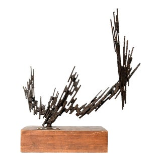 Jorge Stanyo Kaminsky Mid Century Modern Abstract Brutalist Sculpture 1977 For Sale