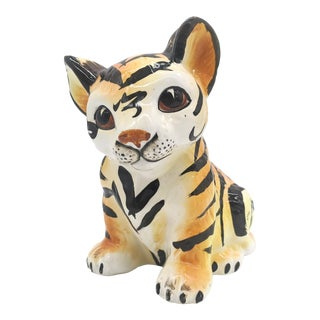 Mid Century Modern Tiger Cub Figurine For Sale