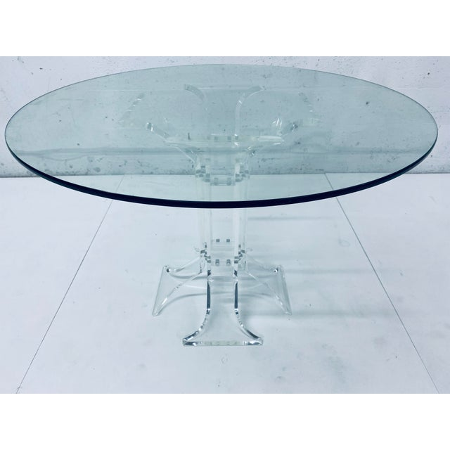 Verano Lucite Dining Table With Glass Top For Sale - Image 13 of 13