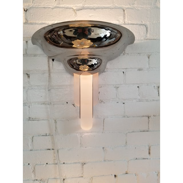 Karl Springer Purcell Chrome & Lucite Sconce For Sale - Image 5 of 5