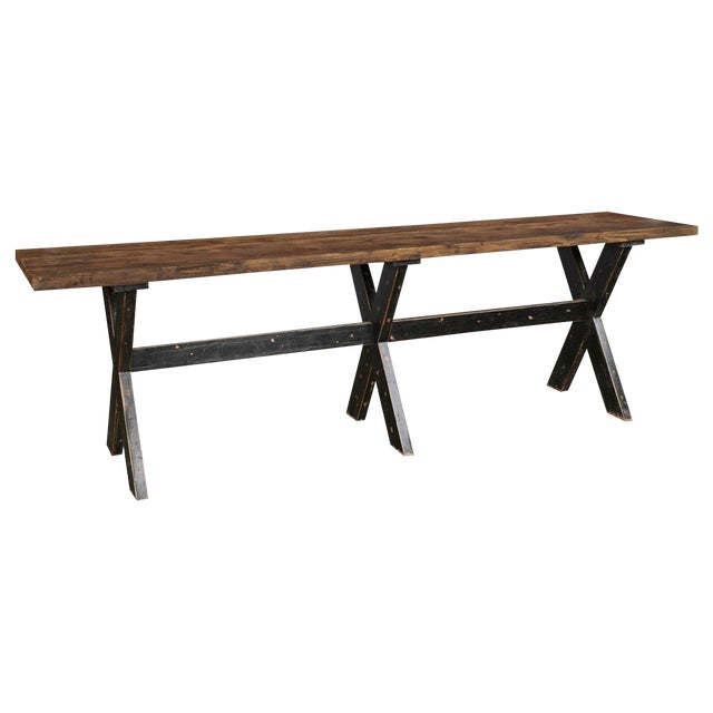 Reclaimed Wood Gathering Bar Table For Sale