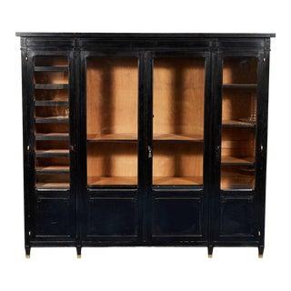 Ebonized Black Oak Bookcase For Sale