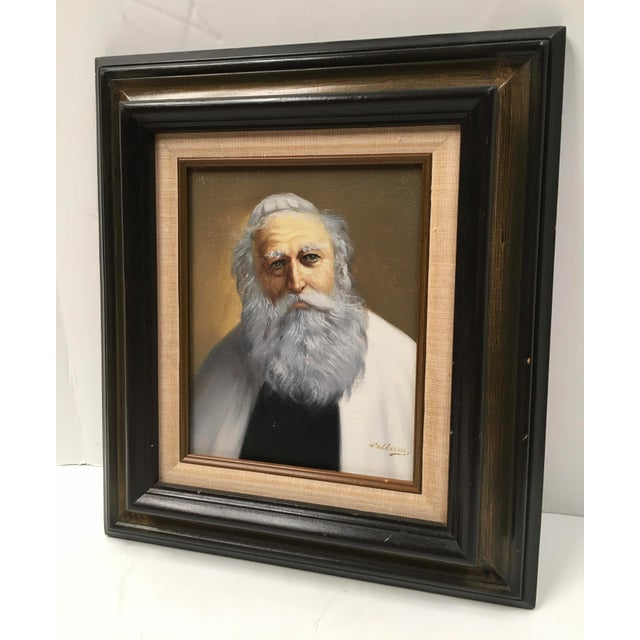 Pelbam Original Signed Oil Painting of Rabbi For Sale - Image 5 of 6