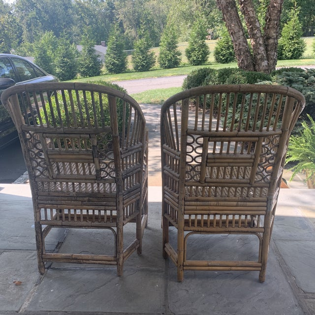 Pair of Vintage Bamboo Brighton Chairs For Sale - Image 10 of 11