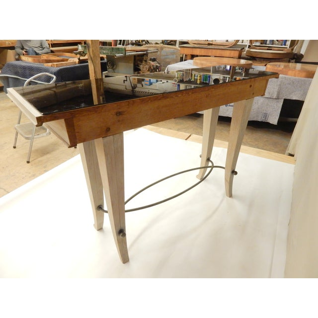 1930s Art Deco Cerused Oak Console For Sale In New Orleans - Image 6 of 7
