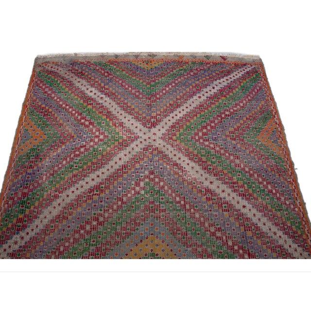 Vintage Flat Weave Turkish Kilim - 6′4″ × 9′11″ - Image 5 of 7