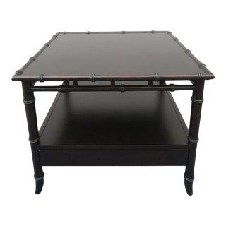 Rare Robsjohn Gibbings for Widdicomb Faux Bamboo Side Table For Sale