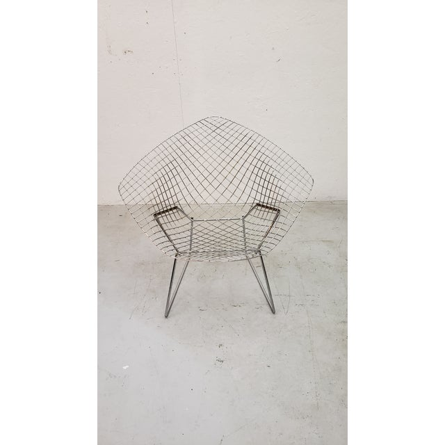 Chrome 1970s Vintage Bertoia Diamond Chair For Sale - Image 7 of 7