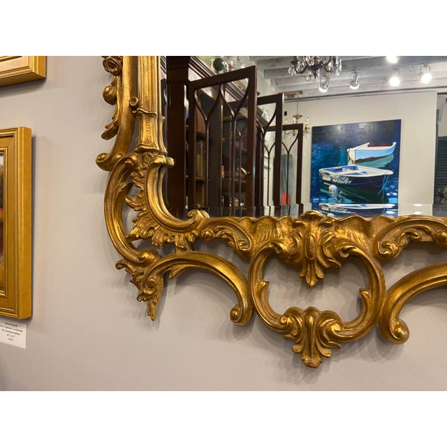 Vintage 1940s Victorian Gilt Gold Mirror For Sale - Image 4 of 7