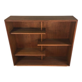 1960s Walnut Wood Display Shelving Unit