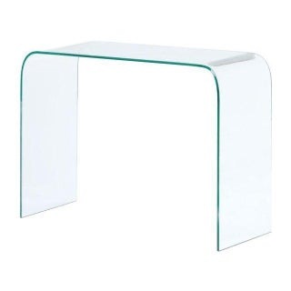 Modern Tempered Glass Console Table For Sale