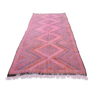 Vintage Pink Tone Turkish Kilim - 11' 7'' X 5' 2''