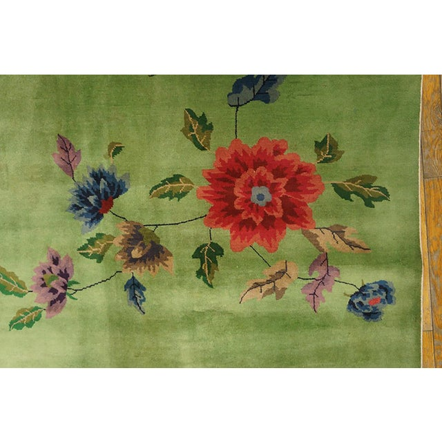 1920s Chinese Art Deco Rug-8′8″ × 11′4″ For Sale - Image 5 of 7