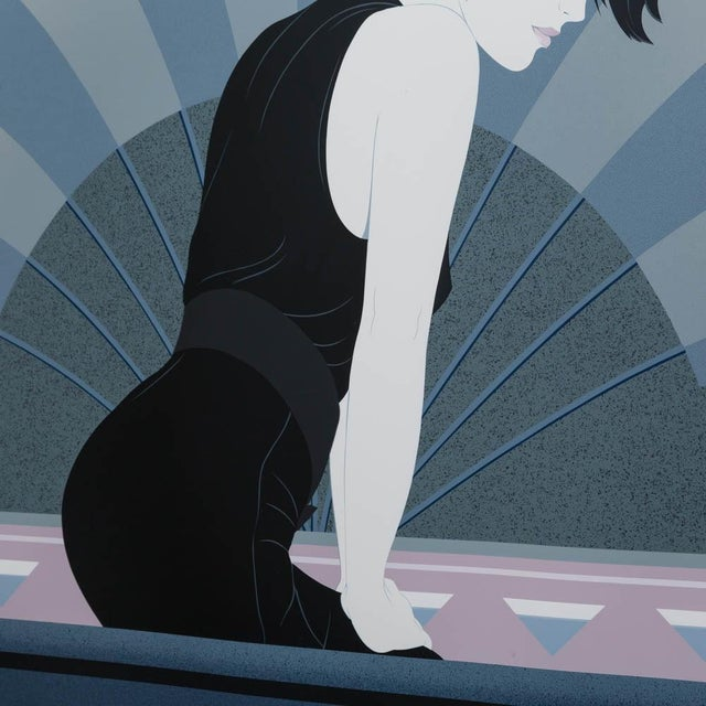 A Framed Art Deco Style Limited Edition Print of a Woman - Image 4 of 5