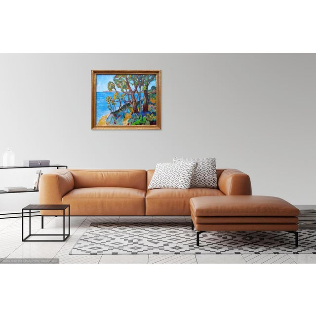Contemporary Monumental - Santa Barbara Hills Oil Painting Framed For Sale - Image 3 of 8