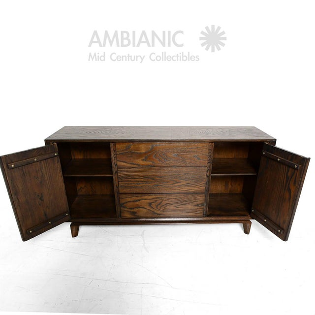 Wood Modern Checkered Credenza by Paul Laszlo for Brown Saltman For Sale - Image 7 of 10