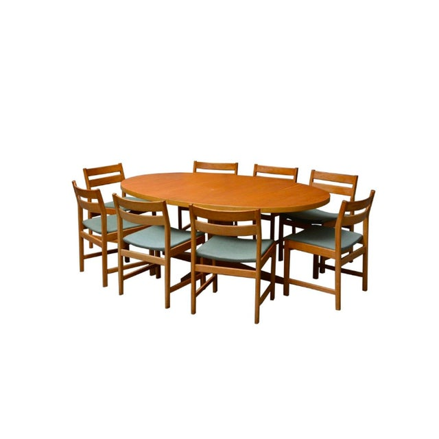 Brown Matching Table by Kurt Stervig for Kp Furniture- Set of 8 For Sale - Image 8 of 8