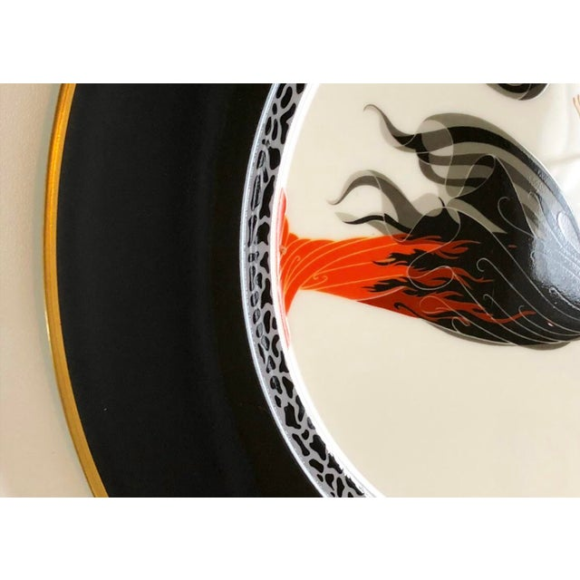 Erté Vintage Collectable Erte Flames D' Amour Bone China Plate For Sale - Image 4 of 6