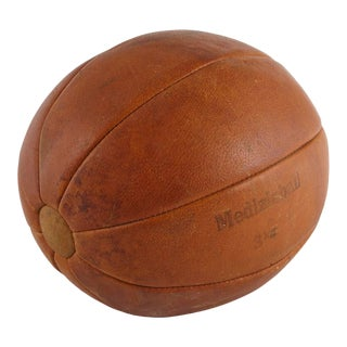 "Leather ""Medizinball 3 Kg"", Medicine Ball, Germany, Circa 1930s For Sale"