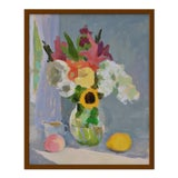 "Image of Medium ""Bouquet With Lemon and Peach"" Print by Anne Carrozza Remick, 19"" X 23"" For Sale"