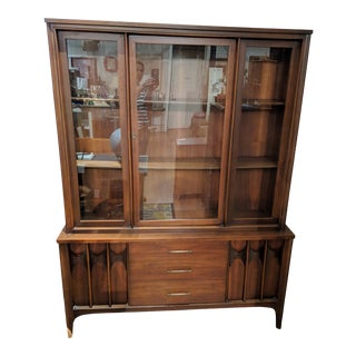 Kent Coffey Perspecta Walnut & Rosewood Hutch For Sale