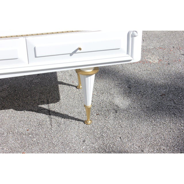 Bronze 1940s French 4-Drawer Snow White Sideboard Buffet For Sale - Image 7 of 12