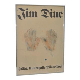 Jim Dine Pencil Signed Düsseldorf Exhibition Poster, 1971 For Sale