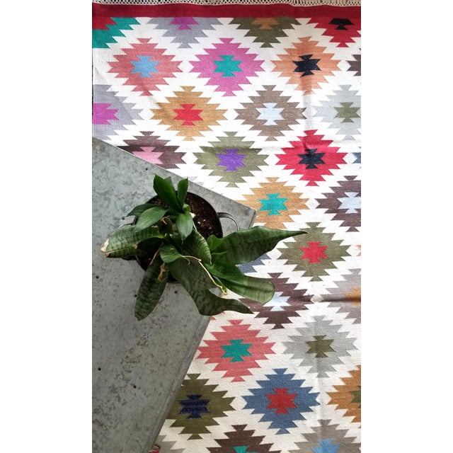 """Contemporary Contemporary Handwoven """"Kotri"""" Area Rug - 4′ × 6′ For Sale - Image 3 of 7"""