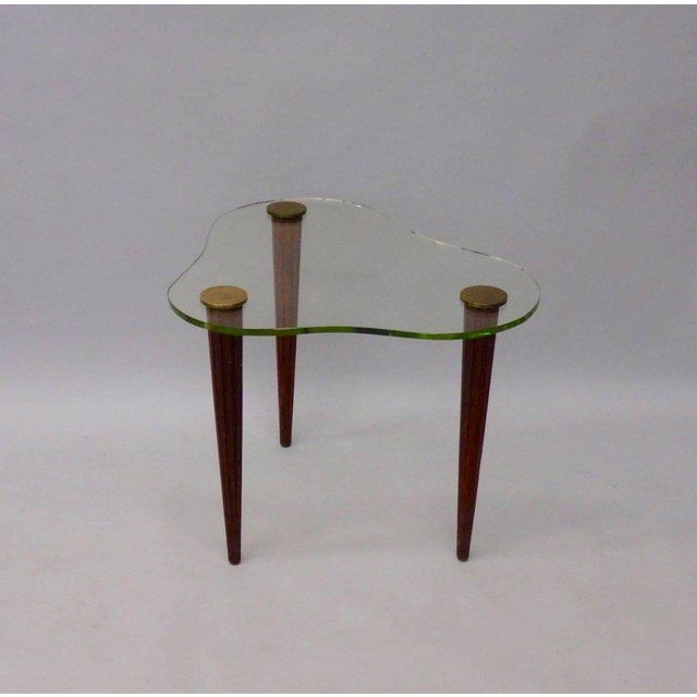 1930s Art Deco Gilbert Rohde Style Glass Cloud Table For Sale - Image 5 of 6