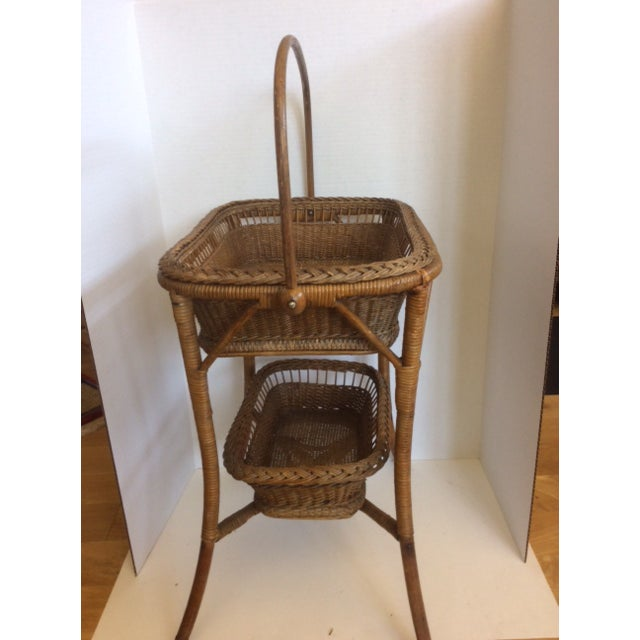 Rattan Basket Stand - Image 5 of 11