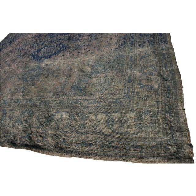 Textile Antique Turkish Oushak Rug - 12′9″ × 13′3″ For Sale - Image 7 of 10