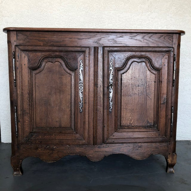 French Early 19th Century Louis XV Oak Buffet From Normandy For Sale - Image 13 of 13