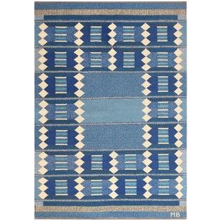Vintage Swedish Scandinavian Kilim Rug - 5′6″ × 8′ For Sale