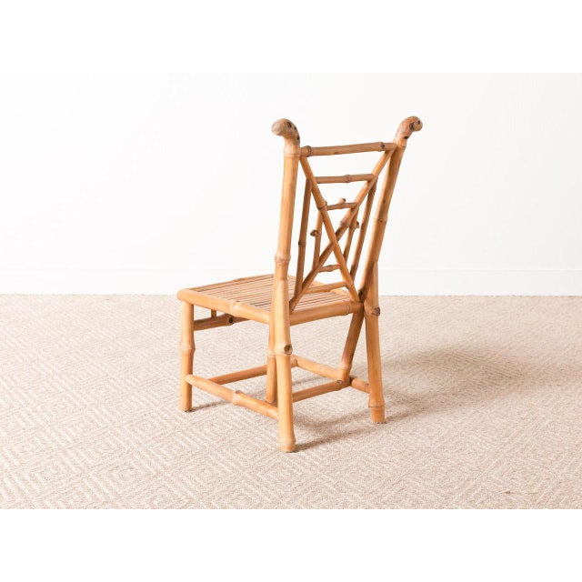 Contemporary Bamboo Side Chair For Sale - Image 3 of 6