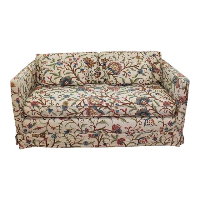 Mid-Century Modern Floral Sofa Settee - Image 1 of 10
