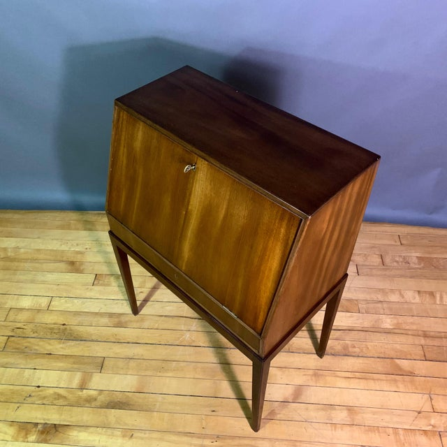 Fritz Henningsen Mahogany Silverware Flip-Down Cabinet, 1970s For Sale In New York - Image 6 of 9