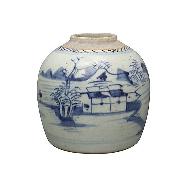 Antique Chinese Export Canton Ginger Jar For Sale - Image 4 of 4