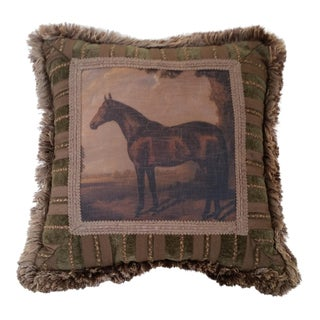 1980s Pulvermacher Designs New York Horse Pillow For Sale