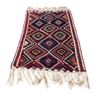 Turkish Hand-Woven Kilim Rug - 3′4″ × 5′