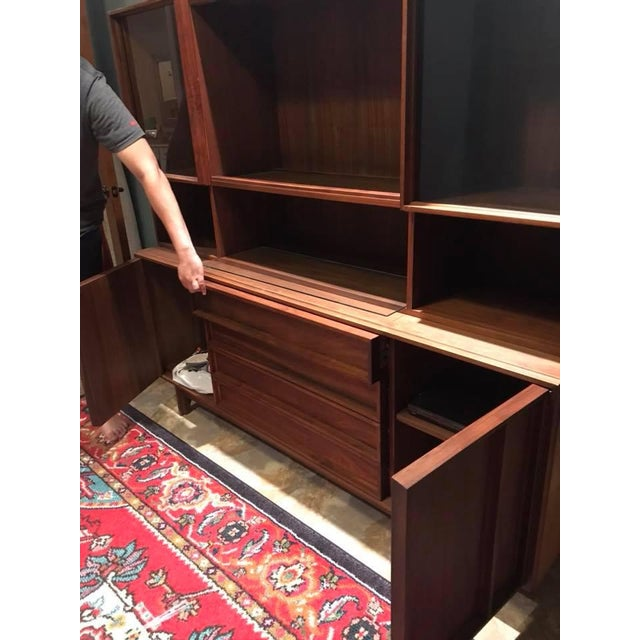 1960s Mid-Century Modern Sideboard + Hutch For Sale - Image 5 of 8