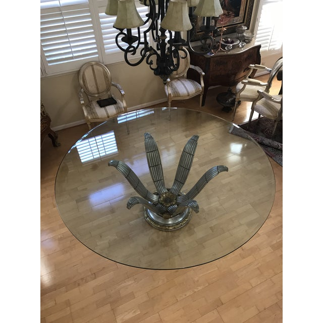 Italian Glass Top Dining Table - Image 3 of 6