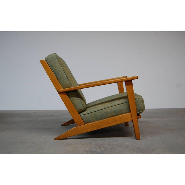 Mid-Century Modern Modernist Lounge Chairs From France- a Pair For Sale - Image 3 of 9