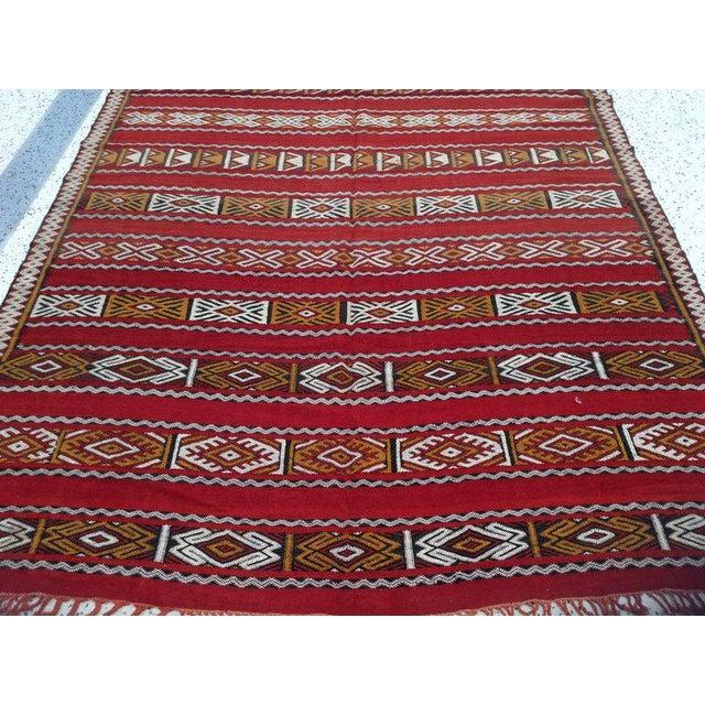Moroccan Tribal Design Runner - 5′8″ × 11′4″ For Sale - Image 4 of 5