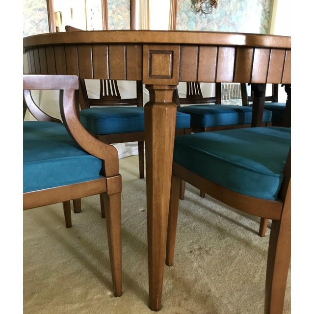 Henredon Dining Table With Chairs - Set of 9 | Chairish