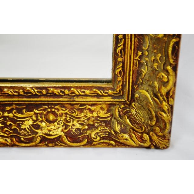 Vintage 1964 Gold Gilt Gesso Framed Wall Mirror - Image 7 of 9