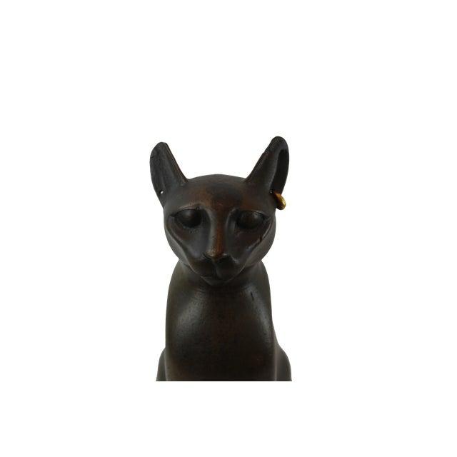 Pasargad DC Vintage Bronze Egyptian Cat Sculpture For Sale In Washington DC - Image 6 of 8