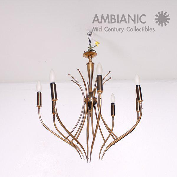 Italian Italian Chandelier After Guglielmo Ulrich For Sale - Image 3 of 10
