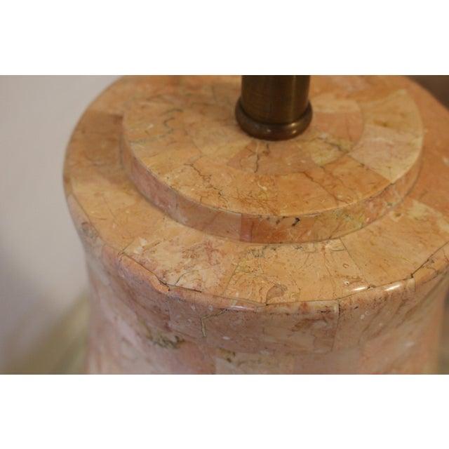 Orange Maitland-Smith Tessellated Stone Lamp For Sale - Image 8 of 11