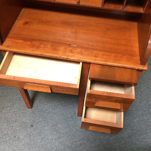 1960s Antique Miniature Roll Top Desk For Sale - Image 5 of 11